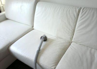 Čištění kožených sedaček 02