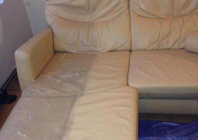 Čištění kožených sedaček 05